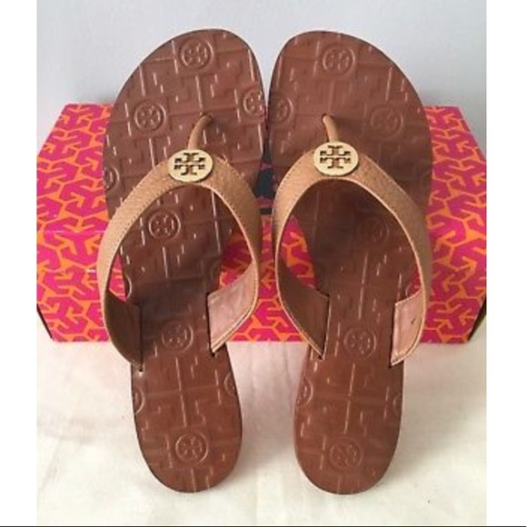 b3a49e2e2ee New Tory Burch Thora Sandals in Tan Beige Color